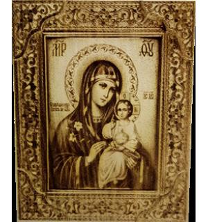Икона большая Божией Матери Неувядаемый Цвет с полями