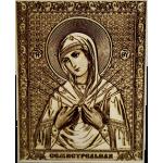 Икона большая Божья Матерь Семистрельная c полями