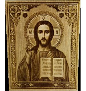 Икона большая Господь Спаситель с полями