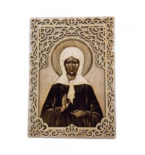 Икона с окладом Святая Матрона