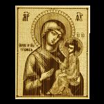 """Икона большая  Божией матери """"Тихвинская"""""""