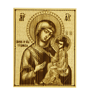 """Икона малая  Божией матери """"Тихвинская"""""""