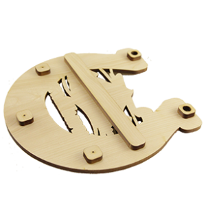 Ключница Подкова с Горой и национальным орнаментом малая