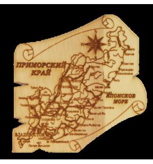 """Карта """"Приморский край""""(магнит)"""