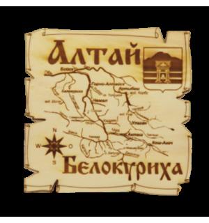 Карта Алтай Белокуриха квадратная мини(магнит)