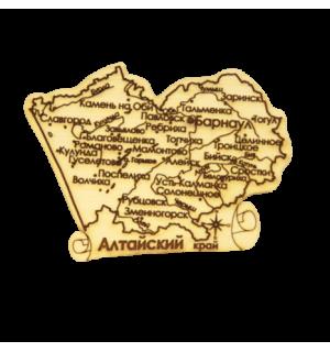 """Карта """"Алтайский край"""" средняя(магнит)"""