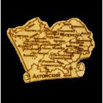 """Карта """"Алтайский край"""" большая(магнит)"""