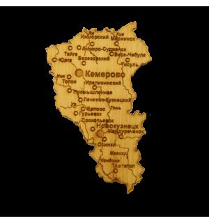 """Карта """"Кемеровская область""""(магнит)"""