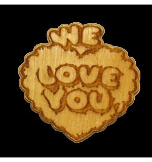 Валентинка We Love You(магнит)