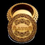 Шкатулка круглая с орнаментом