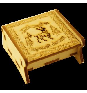 шкатулка для карт гравировка марал